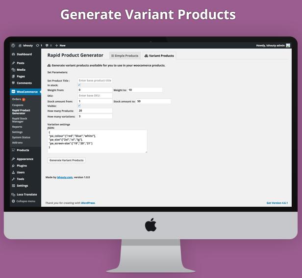 Rapid Product Generator v1.0 3