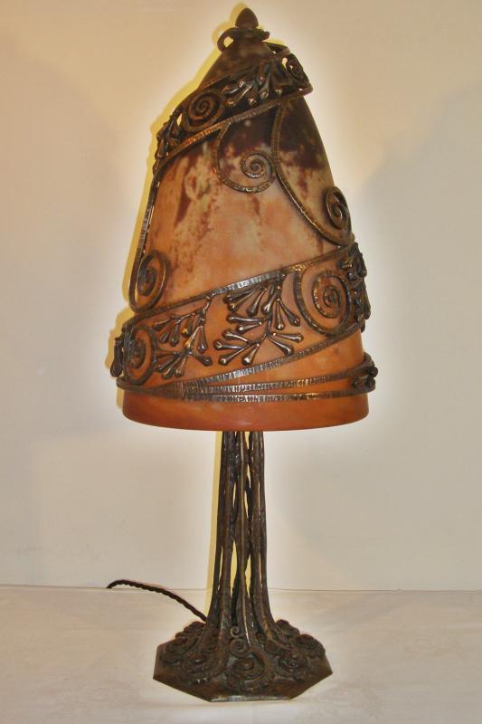 Edgar Brandt Amp Daum Fr 232 Res Wrought Iron Mushroom Table