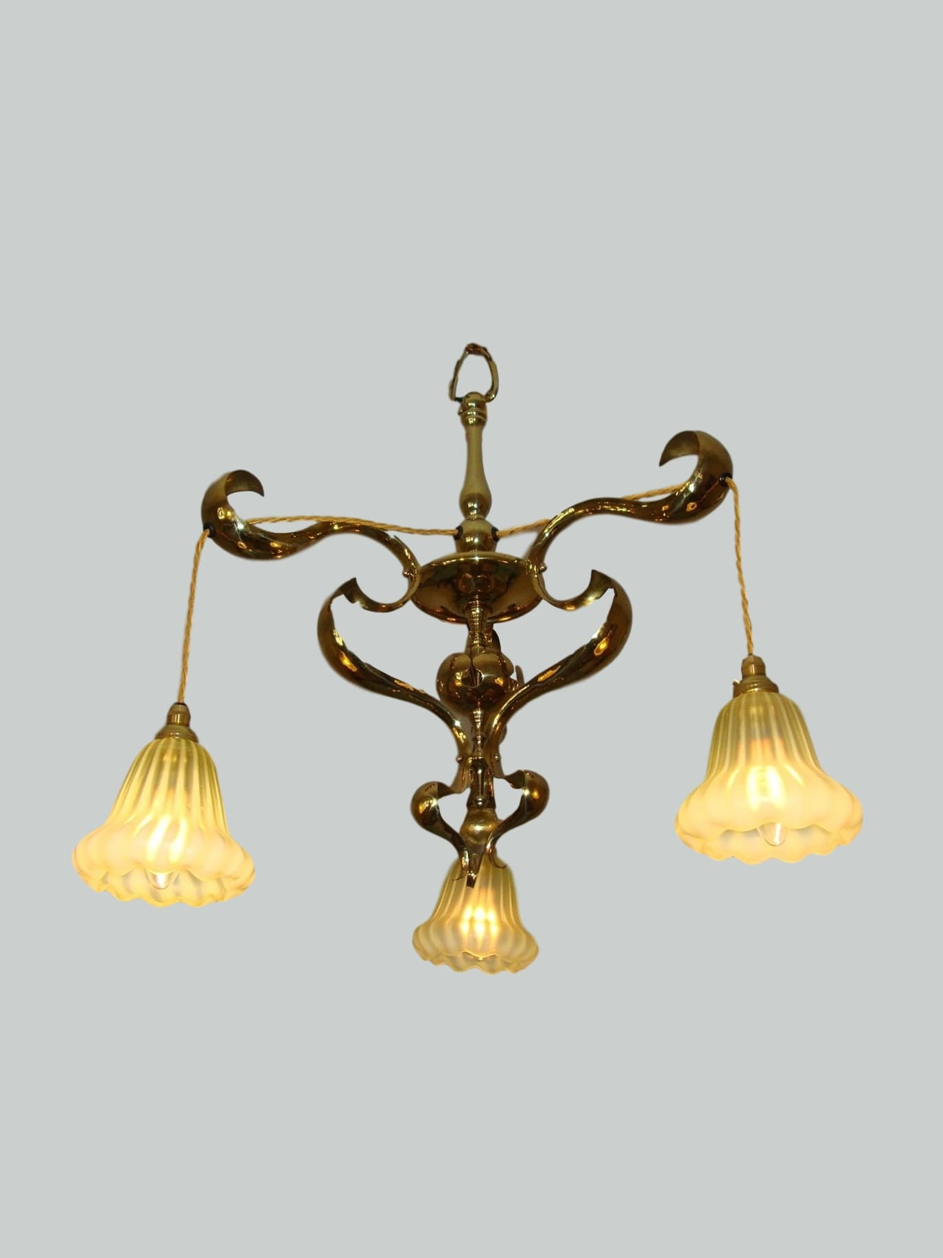 A pair of english art nouveau chandeliers circa 1905 a pair of english art nouveau chandeliers aloadofball Image collections