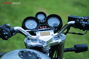 Norton Classic rotary engined British motorcycle instruments