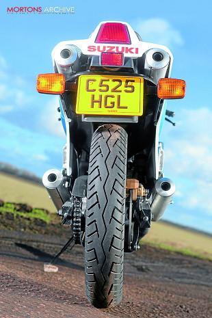 Suzuki RG500 motorcycle rear end