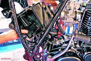 Yamaha XT500 motorcycle restoration