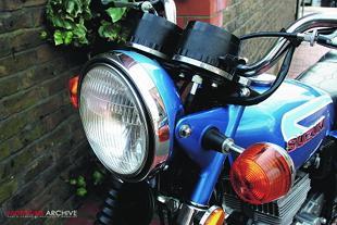 Suzuki GT185 classic Japanese motorcycle
