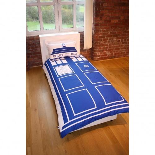 Doctor WHO Parure DE LIT Motif Tardis EBay