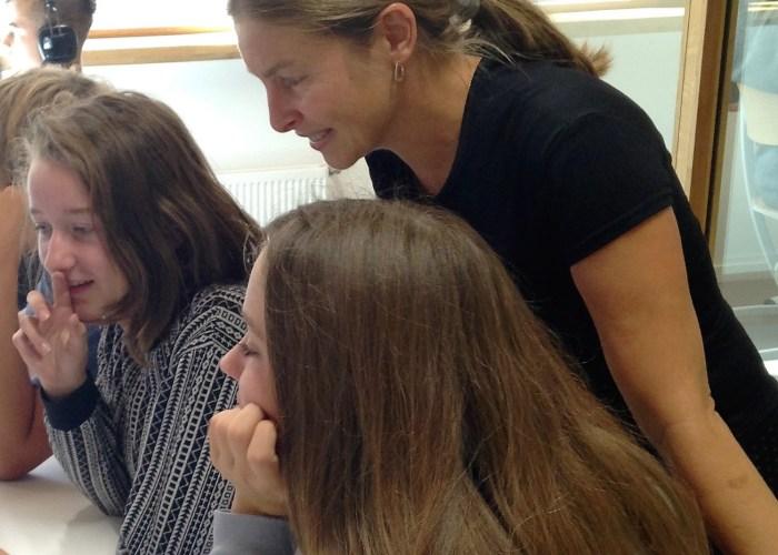 Marie-Hélène-Fasquel en classe