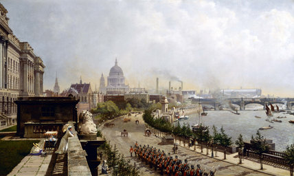 Victoria Embankment linked canvas picture from the museum of London website