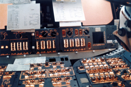 Space Shuttle flight control instruments, 1980s. by NASA ...