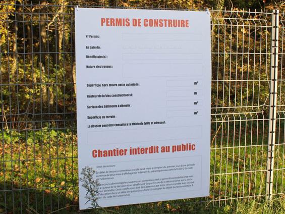 Panneau Permis De Construire Personnalise 123panneaux