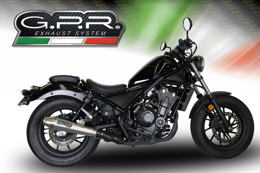 original gpr exhaust for honda cmx 500 rebel 2018 20 e4 homologated slip on exhaust ultracone gpr ss born to run ss made in italy