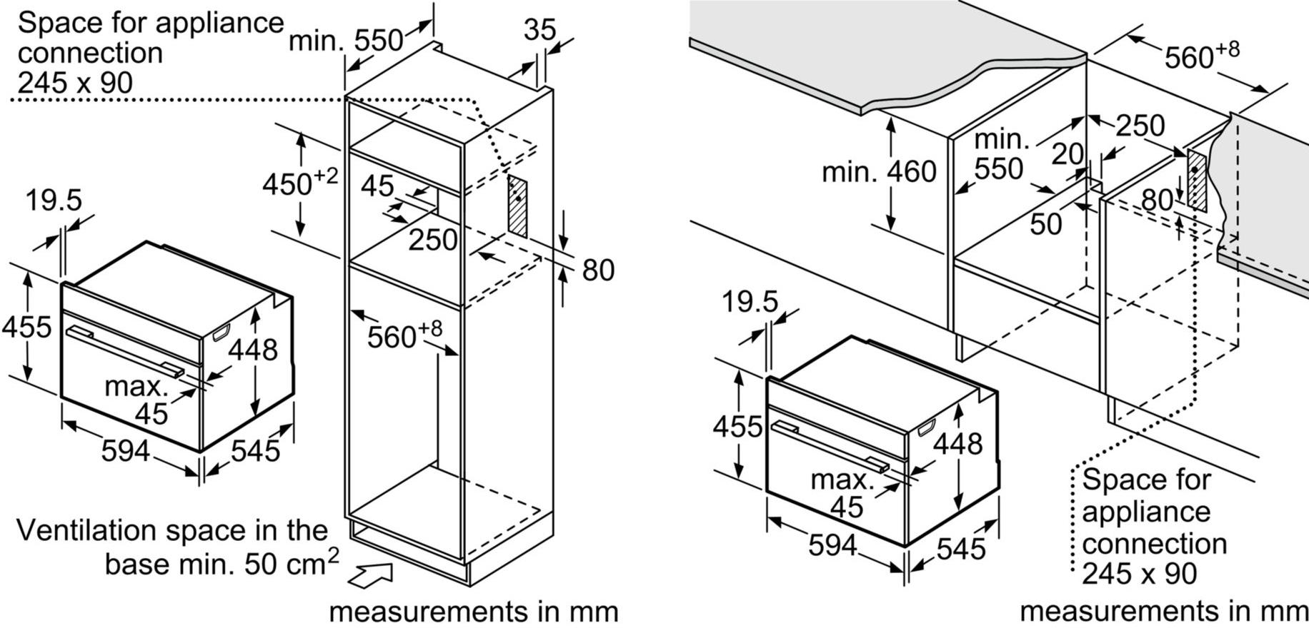 Buy Bosch Serie 8 Cfa634gs1b Built In Microwave