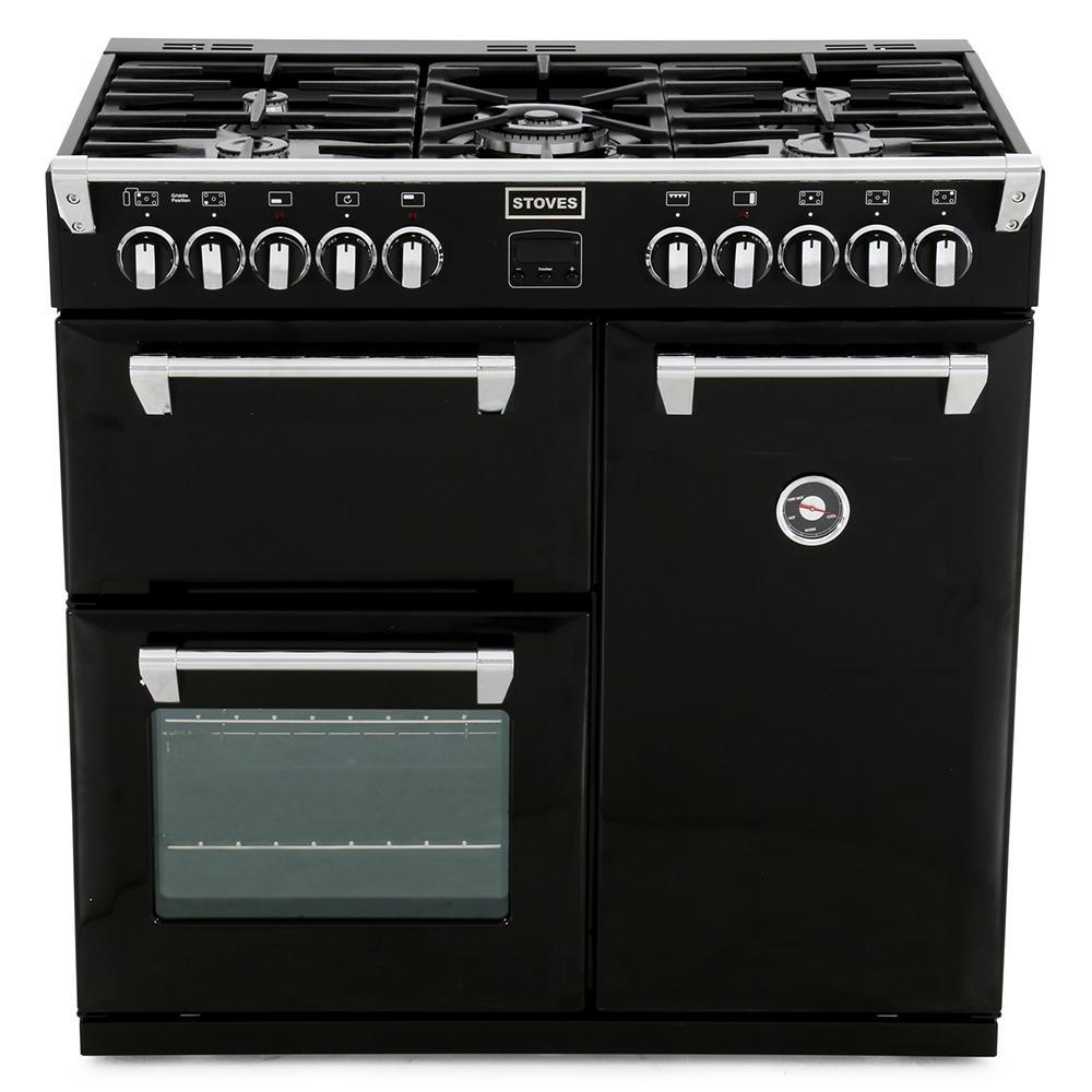 Buy Stoves Richmond 900DFT Black 90cm Dual Fuel Range