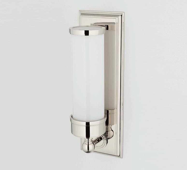 wall light everett polished nickel ip44 l12 1cm h36 2cm hudson valley