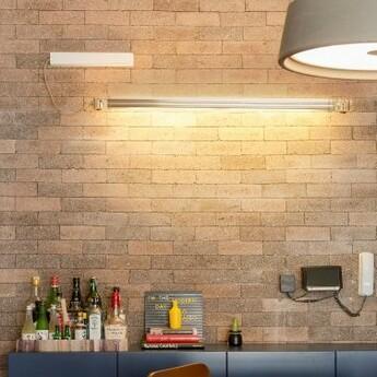 wall light neon de luz aluminium led 3000k 2200lm l124 5cm h5cm marset