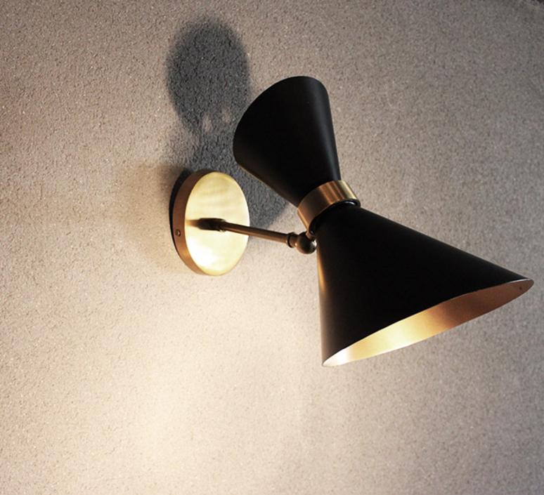 applique murale peggy orientable noir o20cm h27cm gong