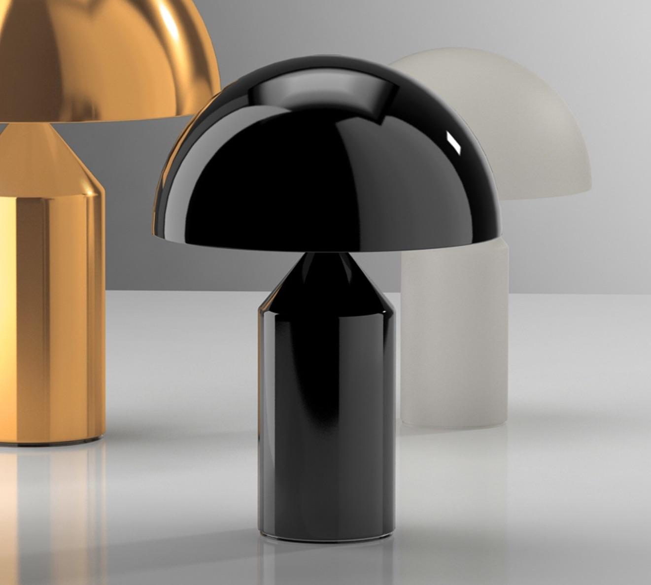 Table lamp, Atollo, black, H50cm   Oluce   Nedgis Lighting