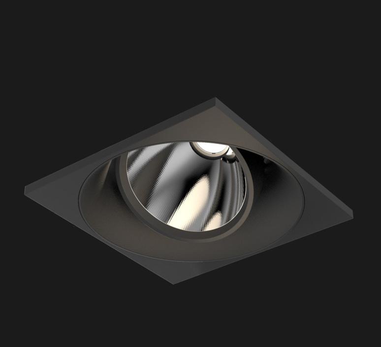 recessed light atlas mix matt black led l12cm h12 5cm 22 doxis
