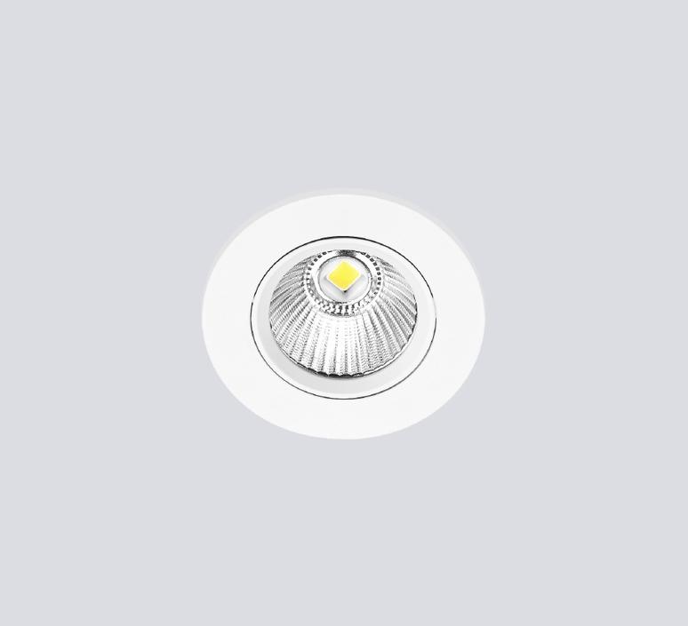 spot encastrable onled blanc satine non dimmable ip 65 led 3000 k 650 lm o8 9cm h7cm onok
