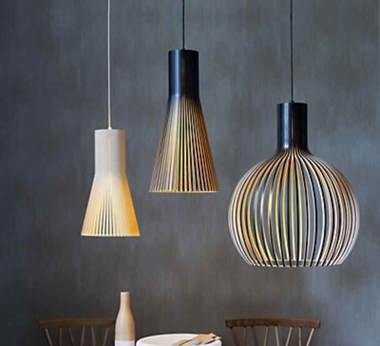 pendant light 4201 birch h45cm secto design