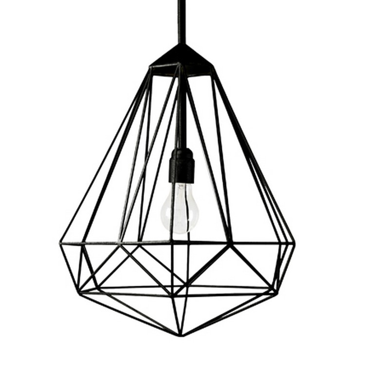 Suspension Diamond Medium Noir H56cm JSPR