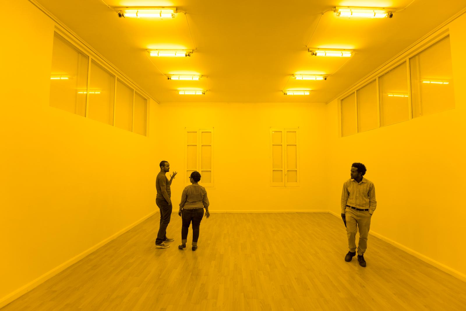 Yellow Corridor Artwork Studio Olafur Eliasson