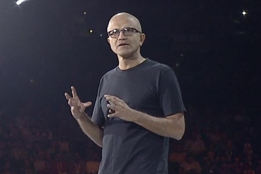 Microsoft's Satya Nadella: 'We're not pursuing AI to beat...