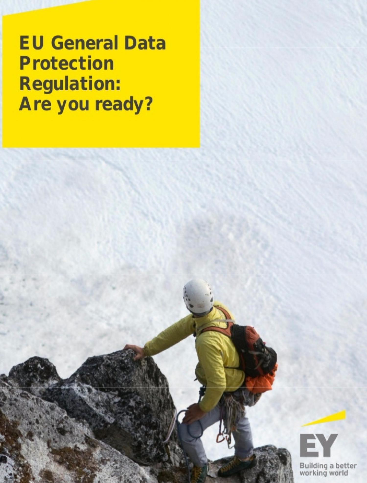EY General Data Protection Regulation: Are you ready?