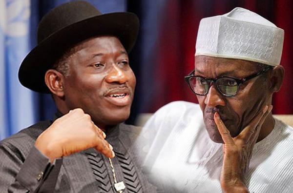 Ex-President Goodluck and President Buhari