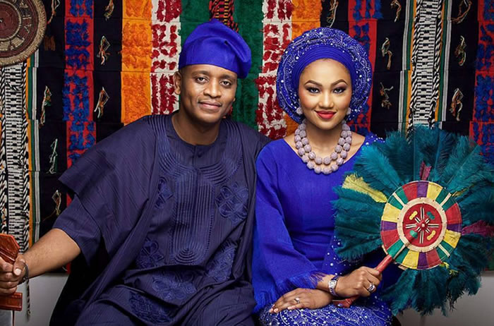Zahra Buhari and her husband