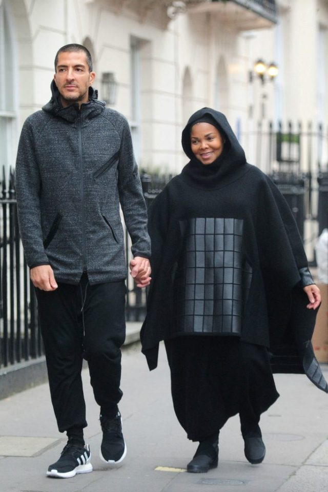 Janet Jackson With Husband Wissam Al Mana, wearing full hiijab