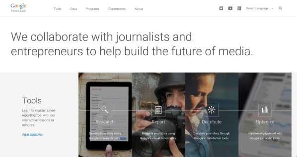 Google News Lab : des outils de recherche pour les journalistes