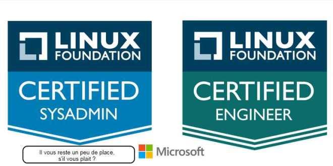 Microsoft propose une certification Linux