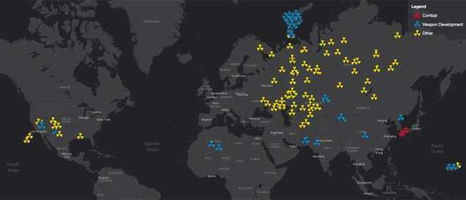 Une carte interactive qui révèle chaque explosion nucléaire depuis 1945