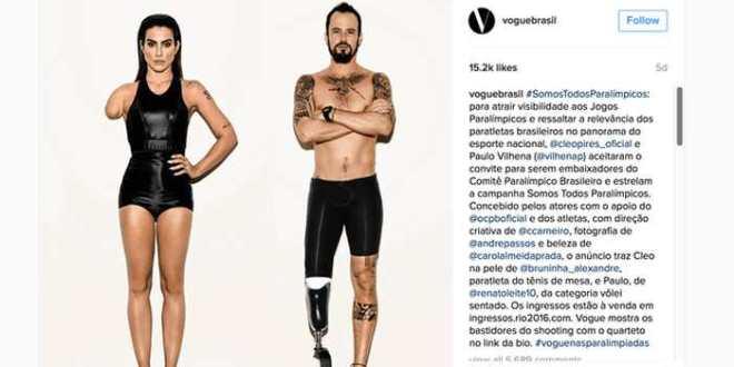 Vogue Brésil photoshope des athlètes paralympiques