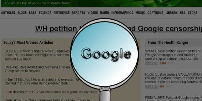 NaturalNews, site complotiste, supprimé de l'index de Google
