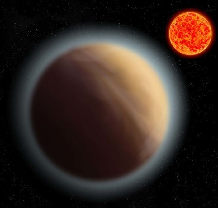 De l'atmosphère détectée autour d'une exoplanète