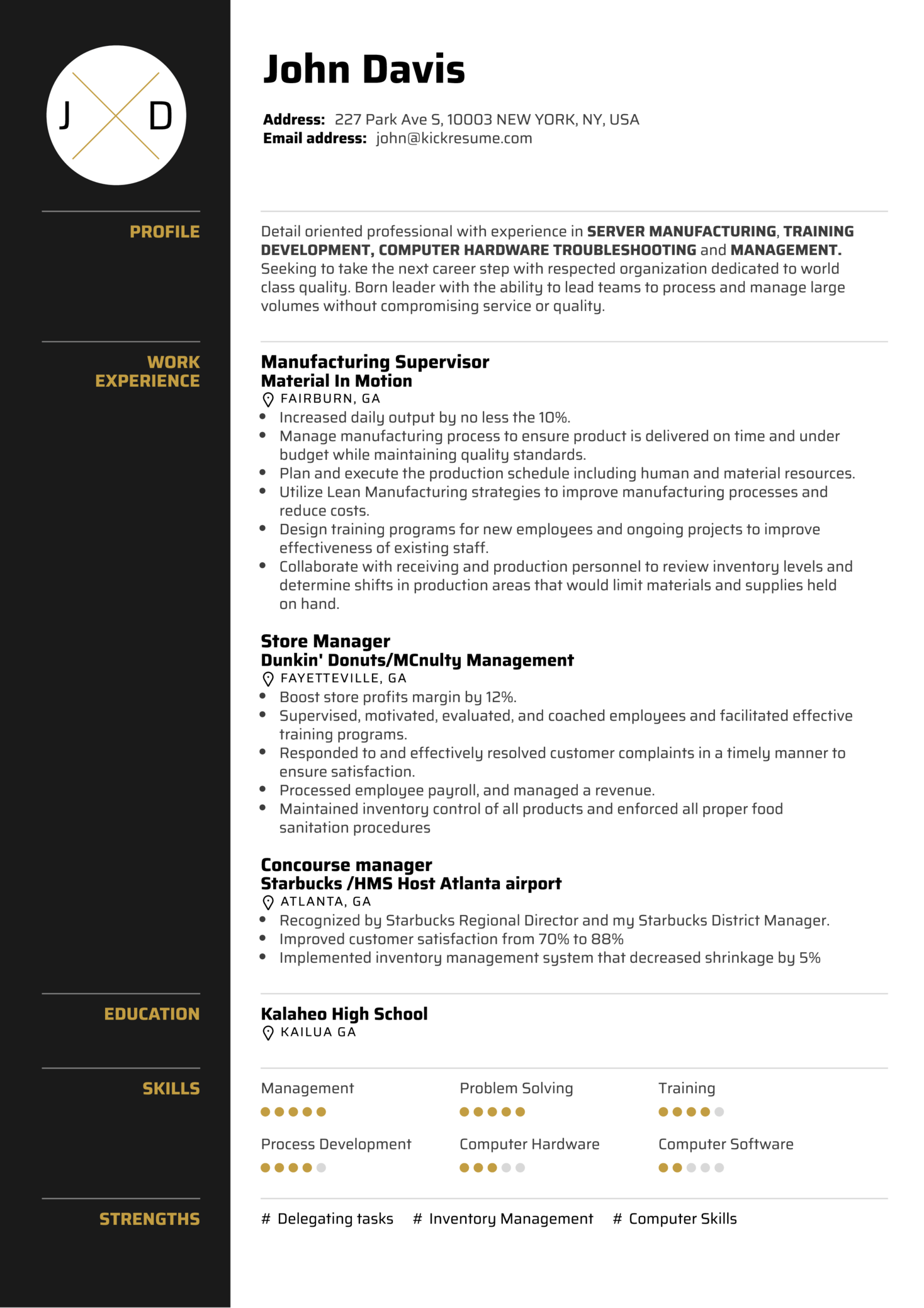 Resume Examples By Real People Server