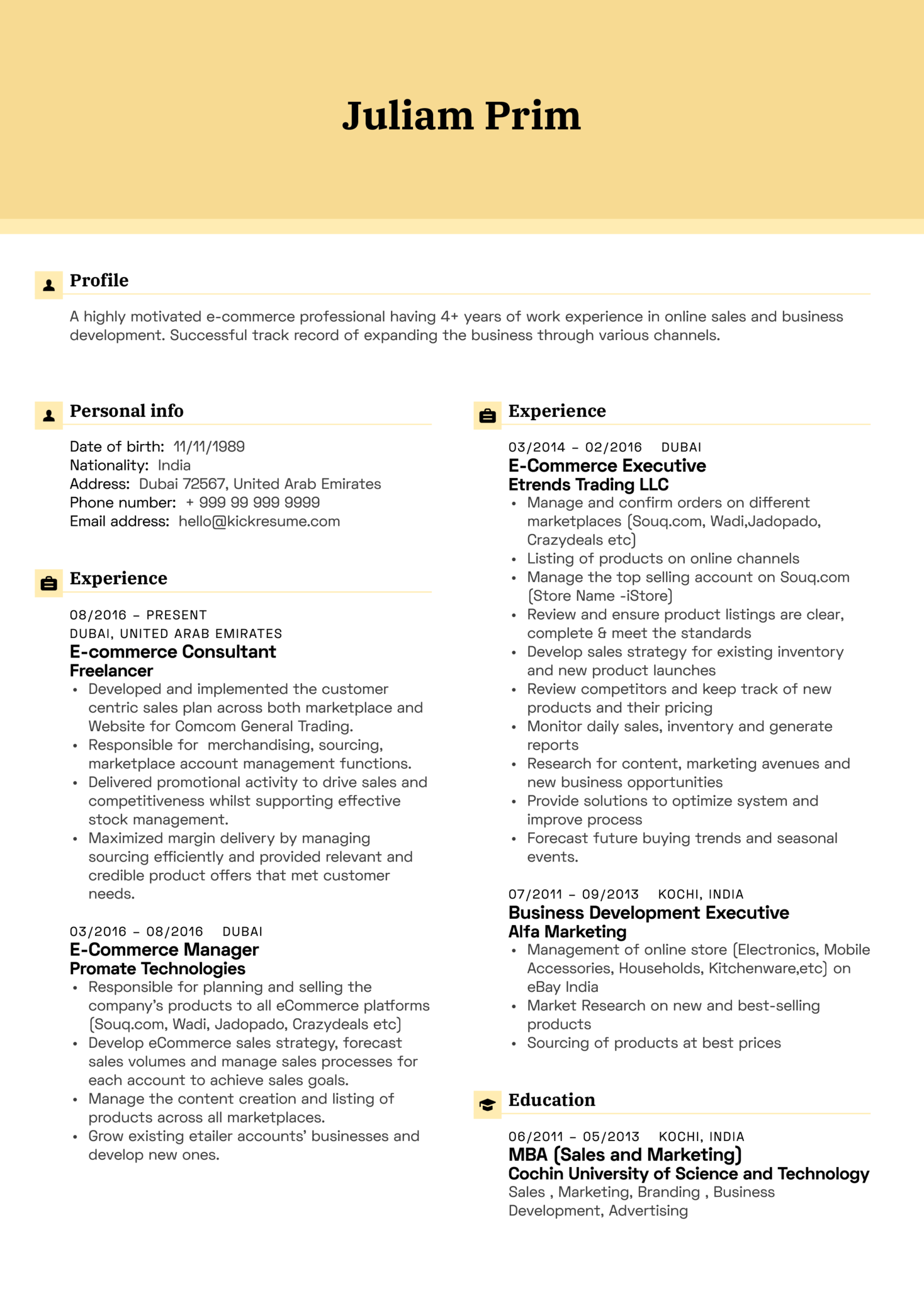 Resume Examples By Real People Yamaha E Commerce