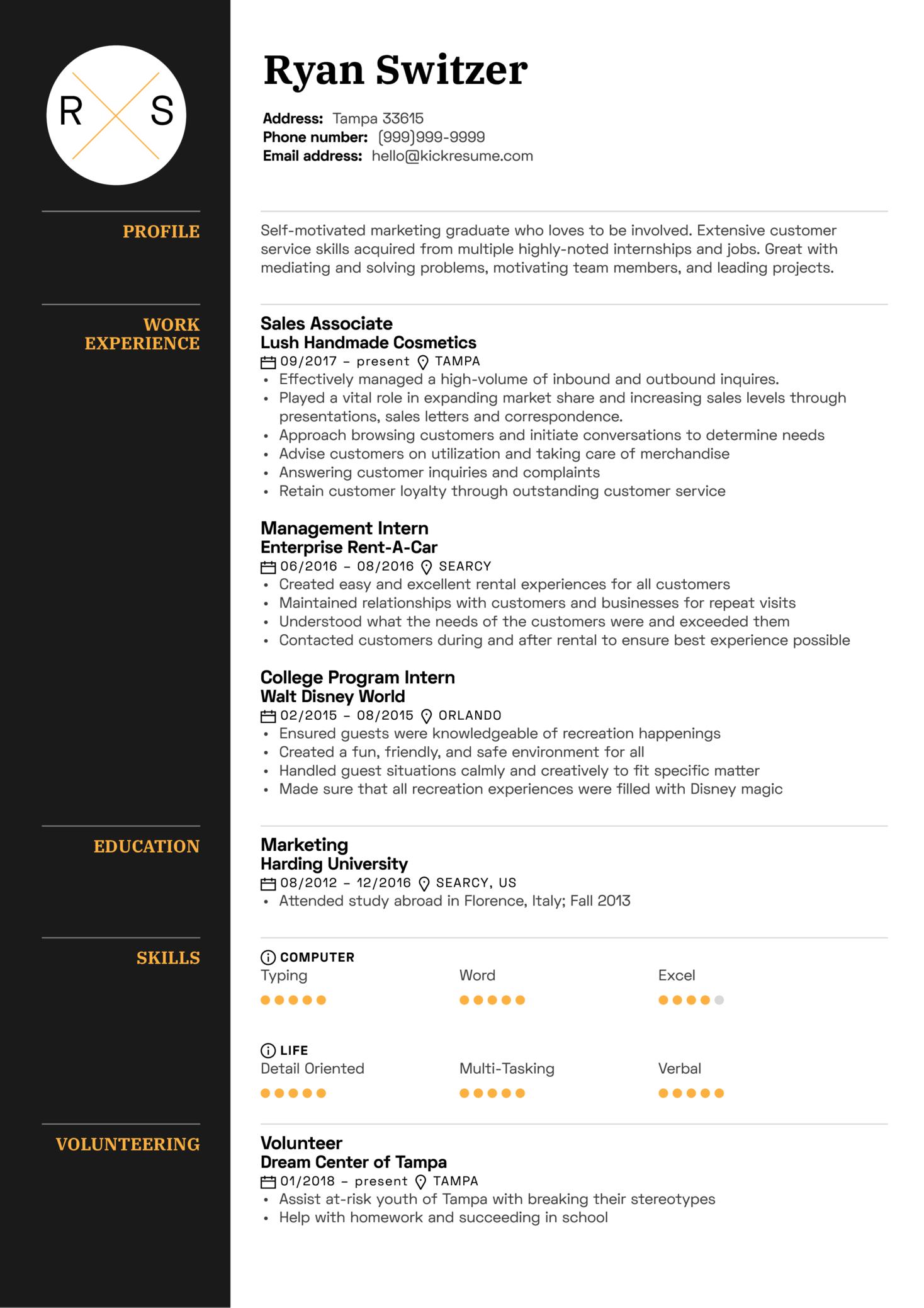 Resume Examples By Real People Sales Associate Resume