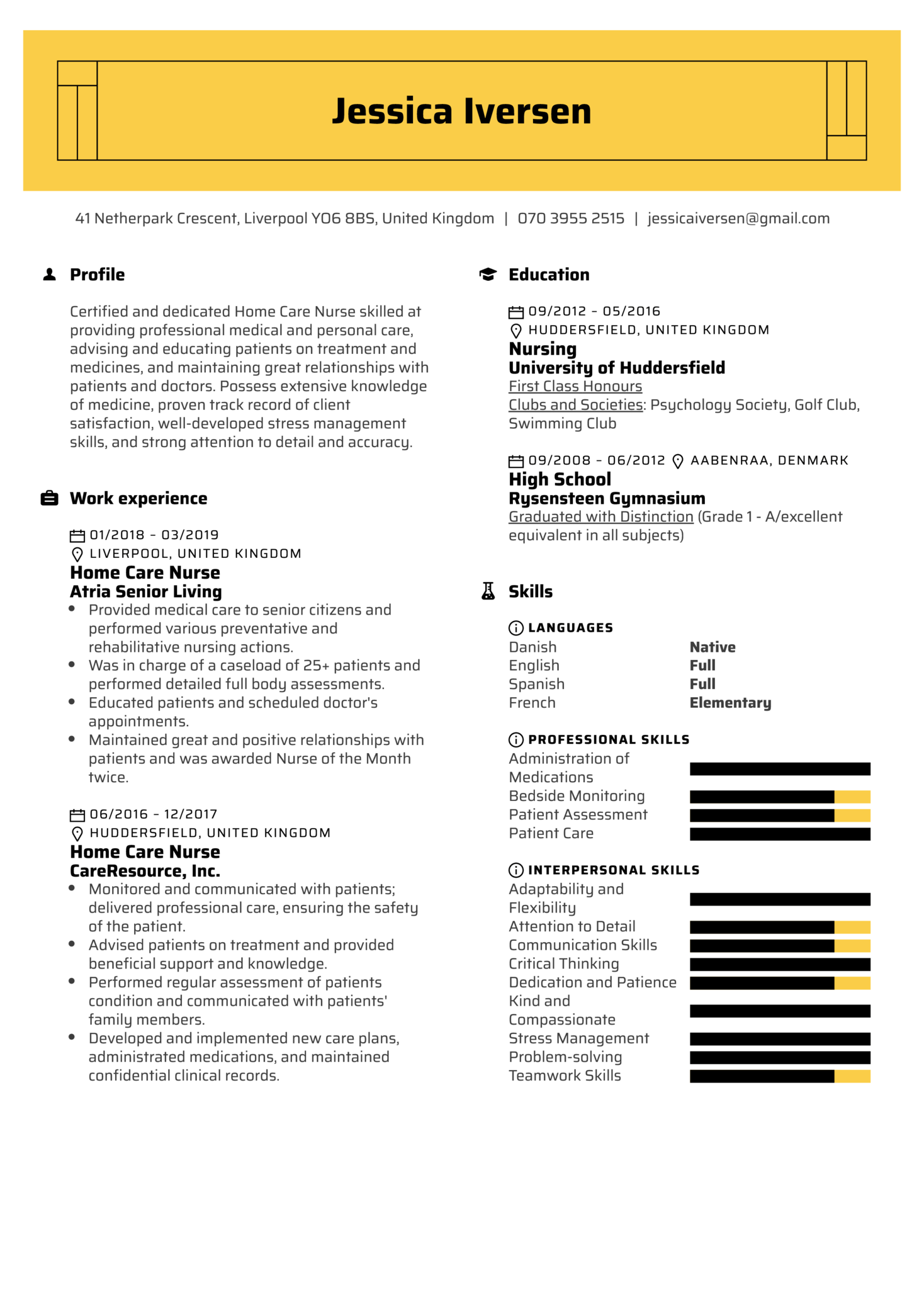 Resume Examples By Real People Home Care Nurse Resume