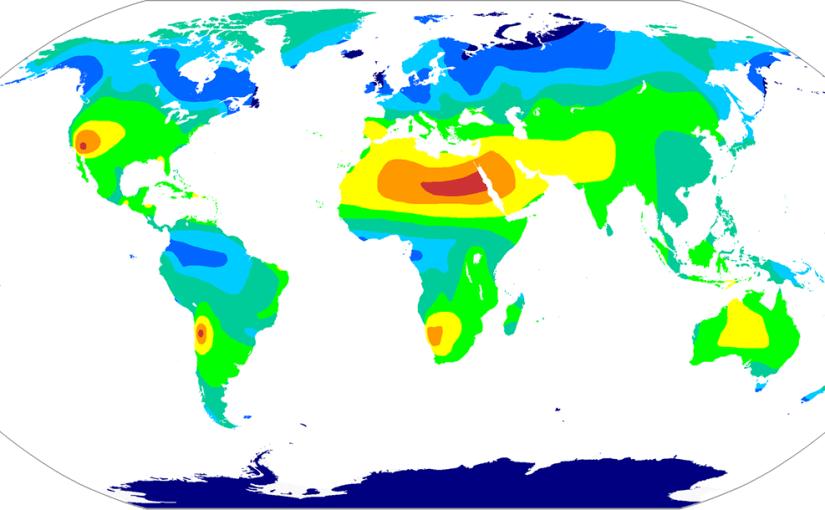 Worldwide sunshine hours