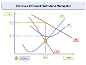 Monopoly  Price and Output for a Monopolist | tutor2u
