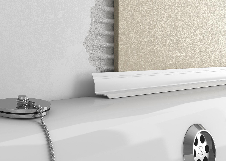 over tile bath seal white