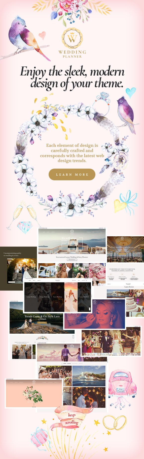 Wedding Planner - Responsive WordPress Theme - 3