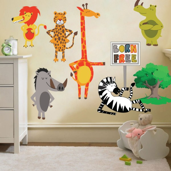 kids bedroom sticker wall murals Childrens Kids Themed Wall Decor Room Stickers Sets