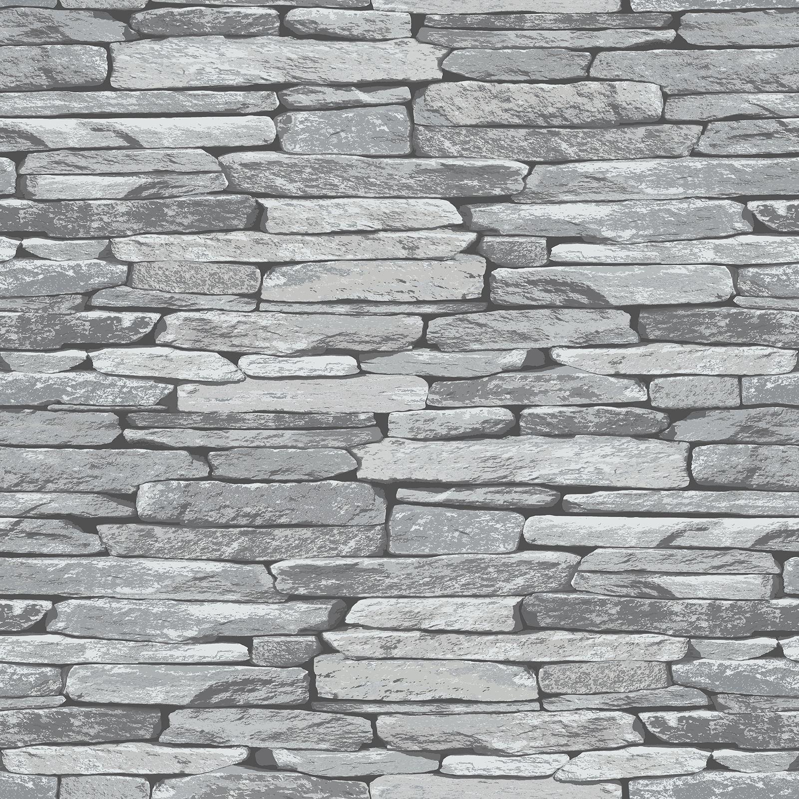 Brick Slate Stone Effect Wallpaper