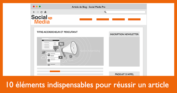 10 elements indispensables pour un article de blog reussi