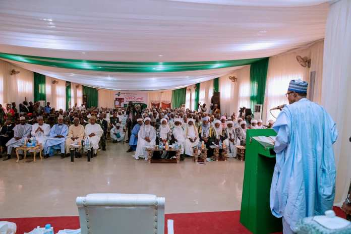 SYMPATHY VISIT! Massive crowd welcomes President Buhari to Zamfara [Photos]