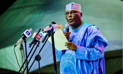 Image result for I started out as a firewood-selling orphan, says Atiku as he launches presidential campaign