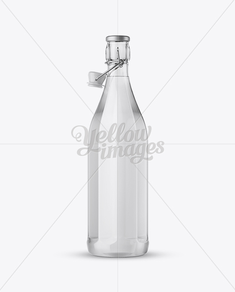 Download Amber Glass Bottle With Clamp Lid Yellowimages