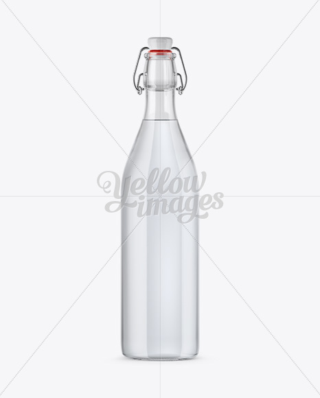 Download Clear Glass Yellow Drink Bottle Psd Mockup Yellow Images